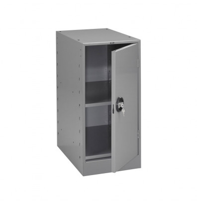 Tennsco MS-1524 Storage Cabinet with 1 cabinet - shown in medium grey
