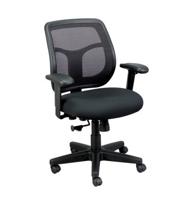 Eurotech Apollo MT9400 Mesh-Back Fabric Mid-Back Task Chair (Shown in Black)