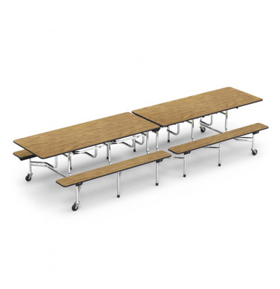 Virco Ft Mobile Cafeteria Bench Table - 12 ft picnic table