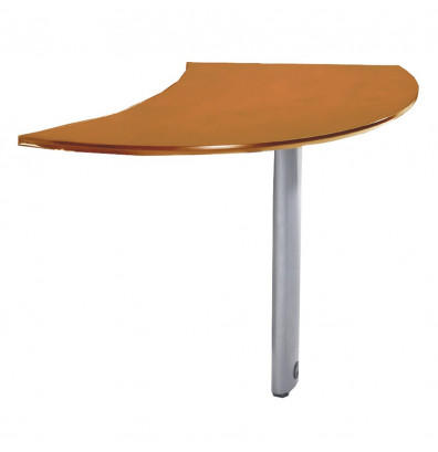 "Mayline Napoli NEXTL 47"" W Curved Desk Extention, Left (Shown in Golden Cherry)"