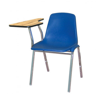 """NPS 11"""" x 23"""" Tablet Arm Student Chair Desk, Right-Hand (Shown in Blue)"""
