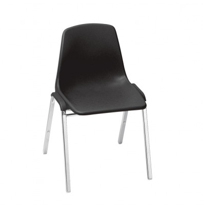 "NPS 18"" Seat Height 4-Leg Stacking School Chair (Shown in Black)"