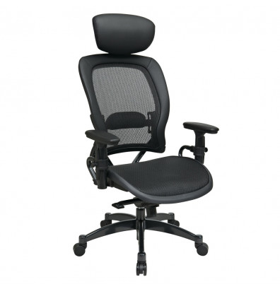 Office Star Space Seating Professional Synchro-Tilt Mesh High-Back Managers Chair