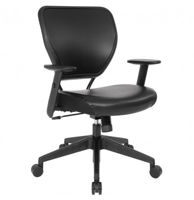 Office Star Space Seating Professional AirGrid Mesh-Back Vinyl Mid-Back Managers Chair