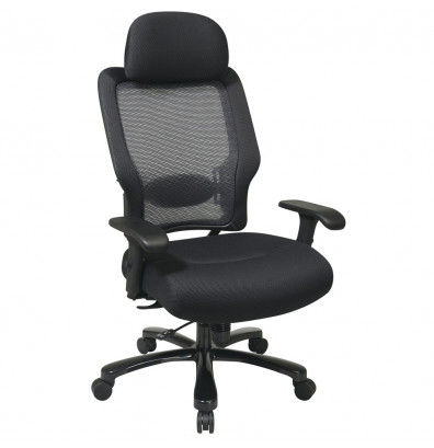 Office Star Space Seating Big & Tall 400 lb. AirGrid Mesh High-Back Executive Office Chair
