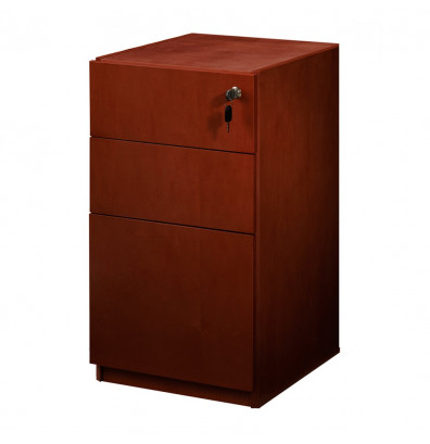 Mayline Luminary PBBF19 3-Drawer Box/Box/File Pedestal Cabinet for Credenza/Return (Shown in Cherry)