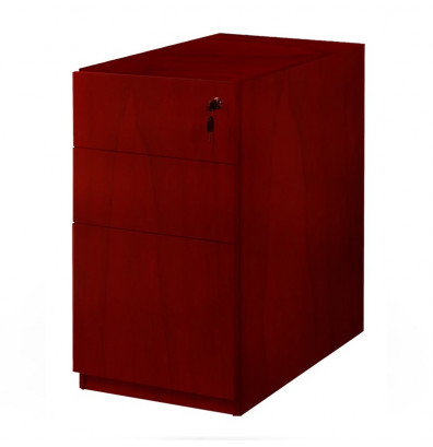 "Mayline Luminary PBBF22 2-Drawer File/File Pedestal Cabinet for 30"" Desk  (Shown in Cherry)"