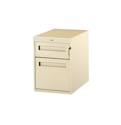 """Tennsco PED-20-36 Hanging 2-Drawer Unit (36"""" D Workstation) - Shown in Sand"""
