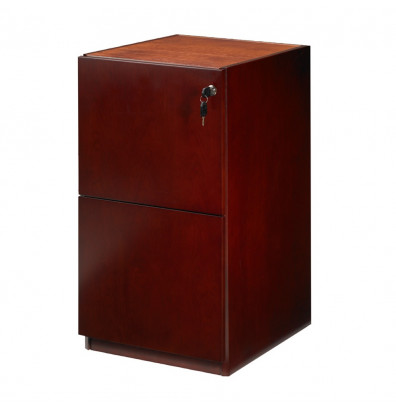 "Mayline Luminary PFF22 2-Drawer Box/Box Pedestal Cabinet for 30"" Desk (Shown in Cherry)"