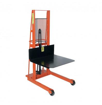 "Wesco Economy 80"" Lift 1000 lb Load Manual Hydraulic Platform Stacker"