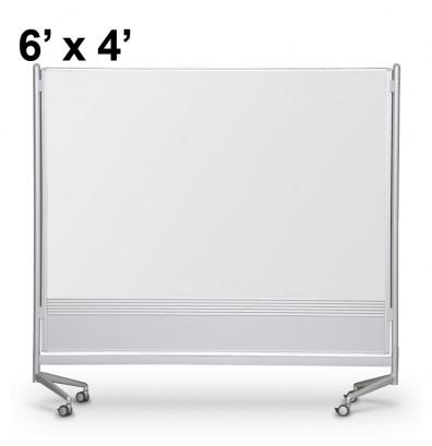 Best-Rite Porcelain Steel 6 x 4 D.O.C. Mobile Divider Reversible