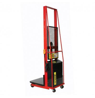 "Wesco PESPL-60-2424 60"" Lift 1000 lb Load Powered Lift Electric Platform Stacker"