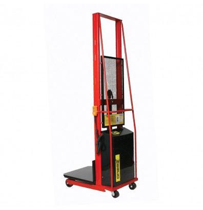 "Wesco PESPL-80-3032 80"" Lift 1000 lb Load Powered Lift Electric Platform Stacker"