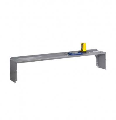 Tennsco R-107218 Riser with End Supports - Accessories not included. Shown in Medium Grey.