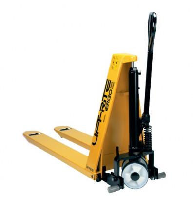 Manual high lift pallet jack