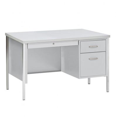 "Sandusky 500 Series 45"" W Single Pedestal Teacher Desk (Shown in Grey)"