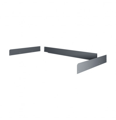 "Tennsco SB-3672 Side & Back Rail Kit (72"" W x 36"" D) - Shown in Medium Grey"