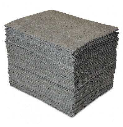 "SPC GP MAXX 0.25 Gal. Enhanced Sorbent Pad, 15"" W x 19"" L, Grey, 100/Pack"