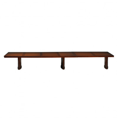 Mayline SC18 Sorrento 18 ft Rectangular Conference Table. Shown in Bourbon Cherry.
