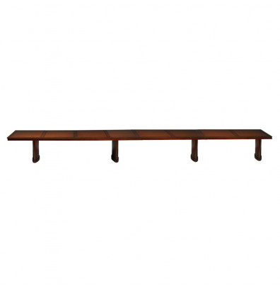 Mayline SC24 Sorrento 24 ft Rectangular Conference Table. Shown in Bourbon Cherry