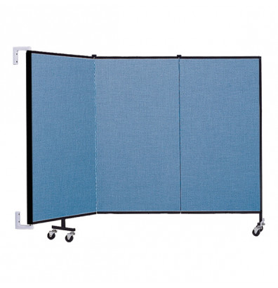 "ScreenFlex CWM403 WallMount Configurable Room Dividers 4'H x 5'6""L"