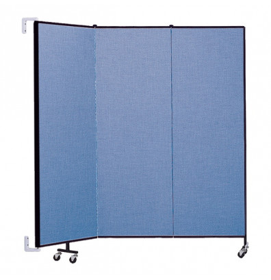 "ScreenFlex CWM603 WallMount Configurable Room Dividers 6'H x 5'6""L"