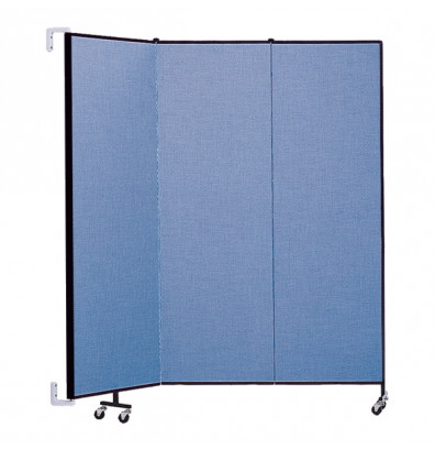 "ScreenFlex CWM683 WallMount Configurable Room Dividers 6' 8""H x 5'6""L"