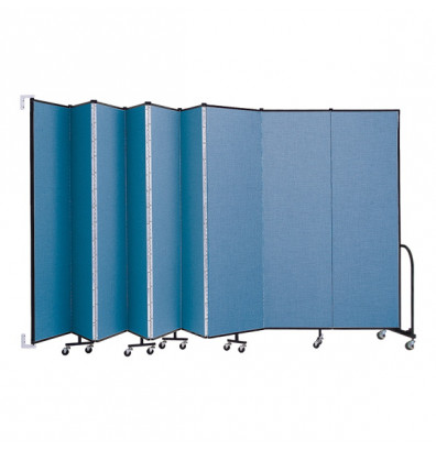 "ScreenFlex CWM749 WallMount Configurable Room Dividers 7' 4""H x 16' 6""L"