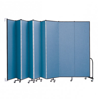 "ScreenFlex CWM809 WallMount Configurable Room Dividers 8'H x 16' 6""L"