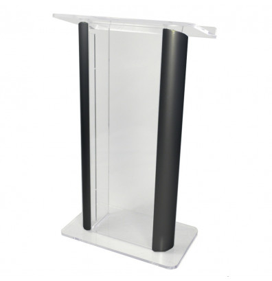 Amplivox Aluminum & Acrylic Contemporary 2-Post Lectern (Shown in Clear Acrylic / Black)
