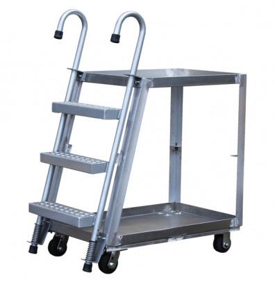 Vestil Spring Loaded 660-1000 lb Load Aluminum Stock Picker with Ladder (SPA2)