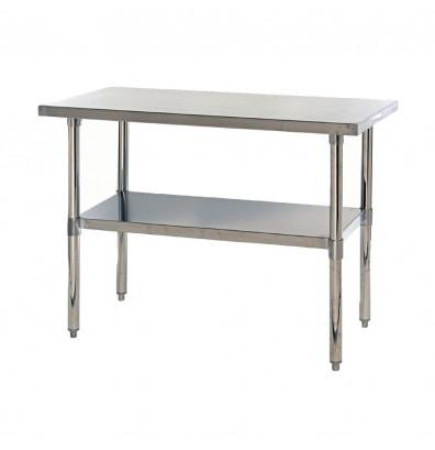 Quantum Storage 304 Stainless Steel Top Adjustable Bottom Shelf Workbench