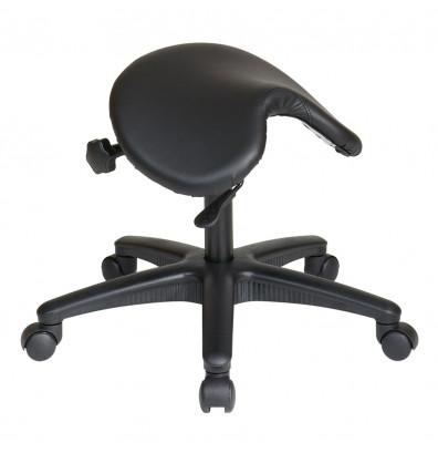 Office Star Work Smart Pneumatic Saddle Seat Stool