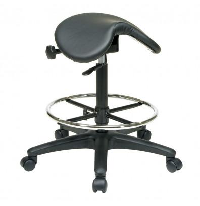 Office Star Work Smart Saddle Seat Stool