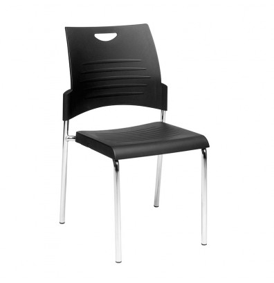 Office Star 4-Pack Straight Leg Plastic Stacking Chair