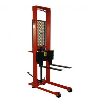 "Wesco SFL-76-30S Standard 1000 lb Load 76"" Lift Manual Hydraulic Straddle Fork Stacker"