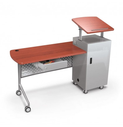 "Balt 27692 Trend 60"" Teachers Mobile Podium Desk"