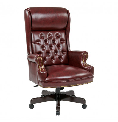 Office Star Deluxe High Back Traditional Executive Chair