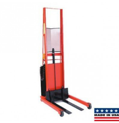 """Wesco PESFL-6430S-PD 64"""" Lift Straddle Fork Powered Stacker with Power Drive"""