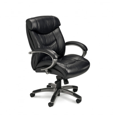 Mayline Ultimo UL230M Genuine Leather Mid-Back Executive Office Chair