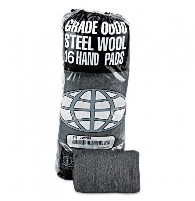 GMT Industrial-Quality Steel Wool Hand Pad, Super Fine, Pack of 192