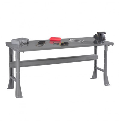 "Tennsco WB-1-3060S Steel Top Fixed Leg Workbench (60"" W x 30"" D x 33-1/2"" H)"