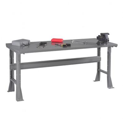 "Tennsco WB-1-3672S Steel Top Fixed Leg Workbench (72"" W x 36"" D x 33-1/2"" H)"