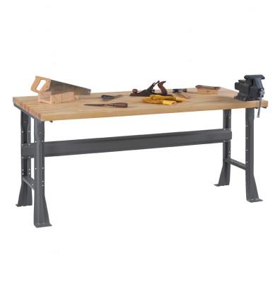 "Tennsco WB-1-3048W Hardwood Top Fixed Leg Workbench (48"" W x 30"" D x 33-3/4"" H)"