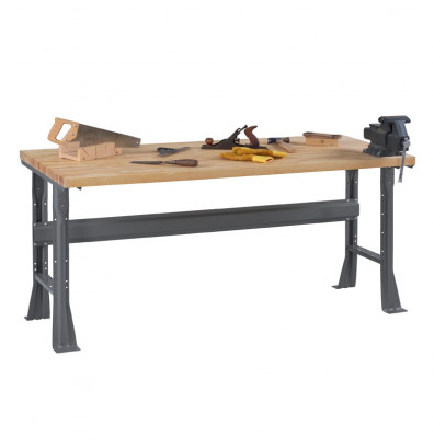 "Tennsco WB-1-3060W Hardwood Top Fixed Leg Workbench (60"" W x 30"" D x 33-3/4"" H)"