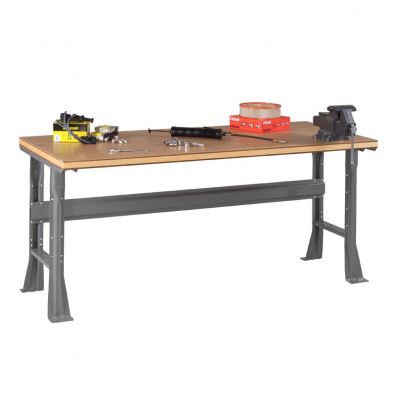 "Tennsco WB-1-3672C Compressed Wood Top Fixed Leg Workbench (72"" W x 36"" D x 33-3/4"" H)"