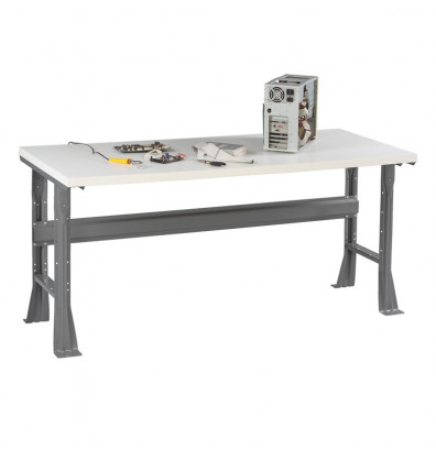 "Tennsco WB-1-3672P Plastic Laminate Top Fixed Leg Workbench (72"" W x 36"" D x 33-1/2"" H)"