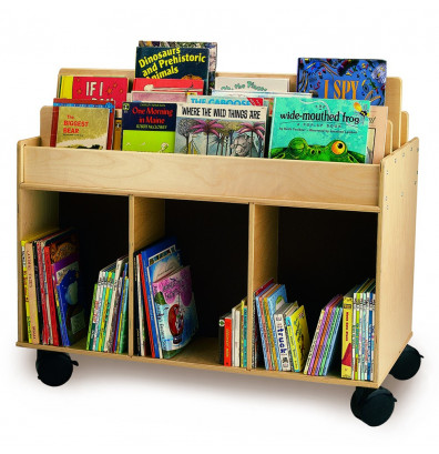 """Whitney Brothers 41"""" W Mobile Book Display Island"""