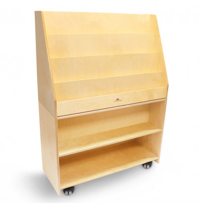 """Whitney Brothers 36"""" W Deluxe Mobile Book Display"""
