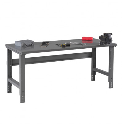 "Tennsco WBA-1-3660S Steel Top Adjustable Leg Workbench (60"" W x 36"" D x 27-7/8"" - 35-3/8"" H)"